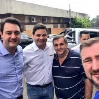 Com os campeões de audiência em São Mateus do Sul Emerson e Olisses Bacil e o Dep. Ratinho JR